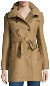 BURBERRY Size US 0 Daylesmoore wool-blend trench coat