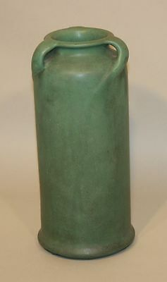 TECO Pottery Arts & Crafts Matte Green 11 Inch 3 Handle William Mundie 284 Vase