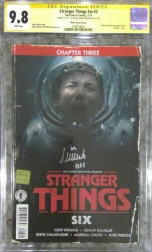 Stranger Things Six #3 photo variant__CGC 9.8 SS__Signed by Millie Bobby Brown