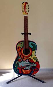 GUITAR - ACOUSTIC HAND PAINTED AUSTRALIA  ART GREAT DISPLAY ! Cottesloe Cottesloe Area Preview