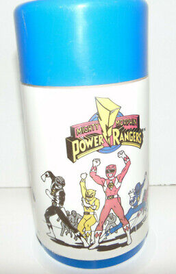 Vintage 1994 Mighty Morphin Power Rangers Lunch Box Thermos & Cup Aladdin Saban (Power Ranger Cups)
