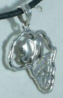 Ciondolo Africa In Argento 925 Sterling Silver Africa Pendant -  - ebay.it