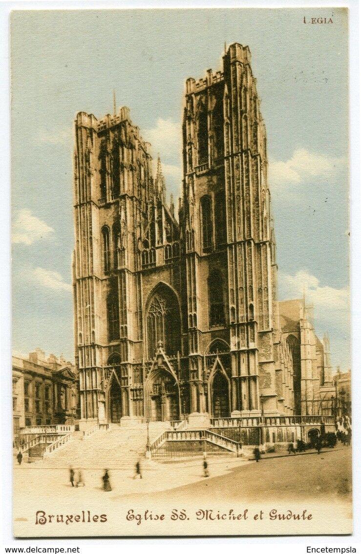 CPA-Carte postale-Belgique-Bruxelles -Eglise Saints Michel et Gudule - 1914