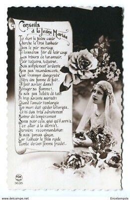 CPA-Lot de 2 Cartes postales - Belgique   - Couple - Conseil aux jeunes mariés