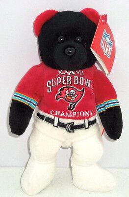 Tampa Bay Buccaneers Bear Super Bowl 37 Bean Bag NFL Football Team New - Nfl Team Bean Bag