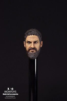 MOMTOYS Spartan Character Head Sculpt A for 1:6 Scale Action Figures #0004A