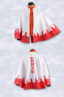 Naruto Anime Cosplay Costume 7th Leaf Hokage Robe Cape Cloak Halloween Party ](Halloween Robes)
