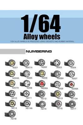 1/64 Scale Alloy Wheels - Custom Hot Wheels, Matchbox, M2 Machines, Rubber Tires