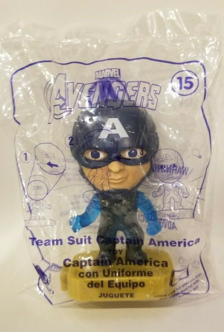 Avengers (2019) McDonalds Happy Meal Toys- Fast Shipping! #15 Team Suit Captain America