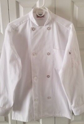 Uncommon Threads Economy Traditional Fit Chef Coat - Size S Small - White