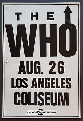 The WHO Vintage OG Promo Concert Poster LA 1989 The JAM CLASH Led Zeppelin QUEEN