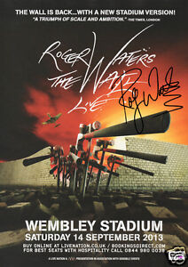 Pink-Floyd-Roger-Waters-Wembley-14th-Sept-2013-Signed-Promo-Poster