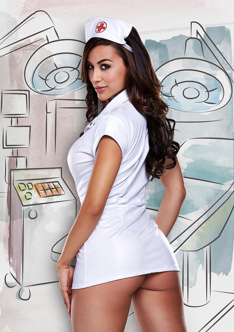 Bbw Nurse white nurses coat and hat baci 1233 role play halloween costume lingerie