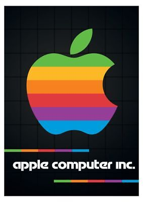 APPLE COMPUTERS POSTER VINTAGE RETRO SILICON VALLEY |24 inch by 36 inch| B