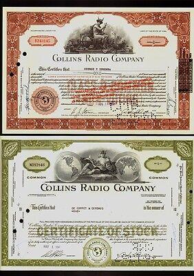 Set 2 diff.COLLINS RADIO  COMPANY  (  now Rockwell Collins Cedar Rapids Iowa) .