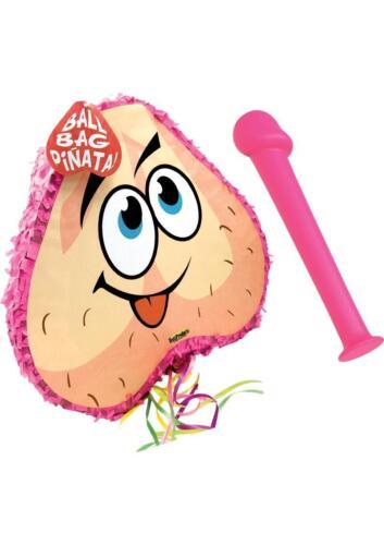 Bachelorette Pecker Bat & Balls Pinata Combo Pink