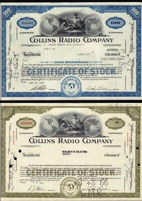 . now Rockwell Collins Cedar Rapids Iowa Set 2 diff.COLLINS RADIO  COMPANY