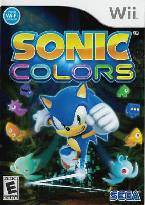 Sonic Colors ( Nintendo Wii U NTSC ) Disk Only Tested!