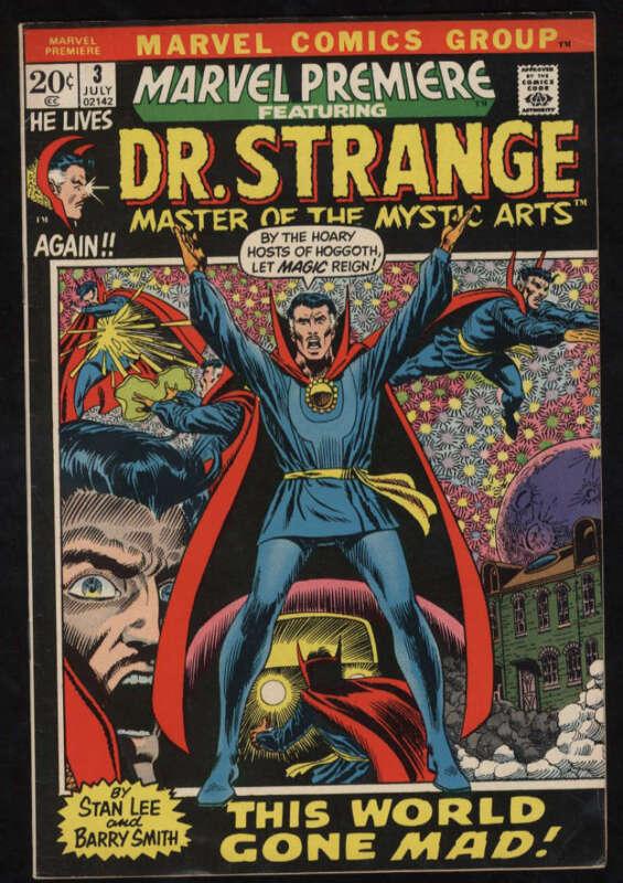 Marvel Premiere #3  Fine+ Ow/W Pgs Doctor Strange Begins