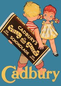 Cadburys-Chocolate-advert-Vintage-Art-Print-Poster-A1-A2-A3-A4-A5