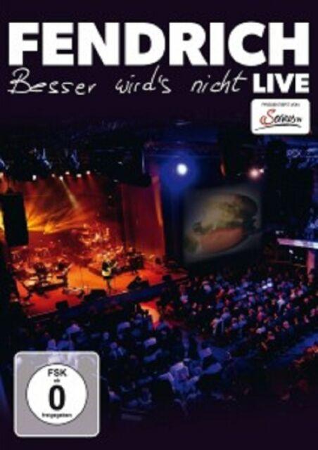 RAINHARD FENDRICH - BESSER WIRD'S NICHT-LIVE  DVD  AUSTRO POP  NEU