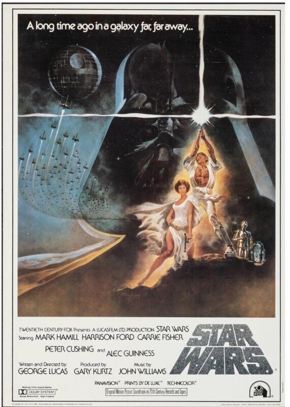 Vintage star wars Movie  poster 1982  rolled very fine