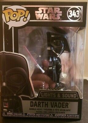 Star Wars Darth Vader Electronic Pop Bobble Head #343 Lights and Sound by Funko