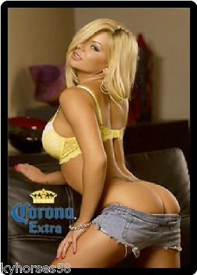 Beer Babe (Corona Extra Beer Blond Babe Refrigerator Magnet )