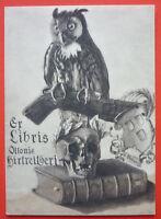 Exlibris, Ex Libris Ottonis Hirtreitheri Morte, Gufo -  - ebay.it