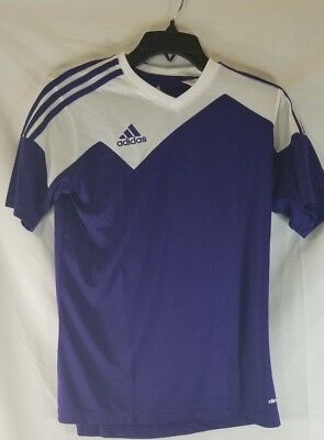 0840d5af4f6 Adidas Climacool Toque 13 Purple Soccer Jersey Youth Large NEW