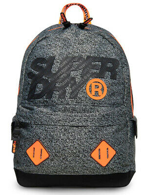 New Superdry Gray City Montana Rucksack Backpack School Bag Gym Travel Work