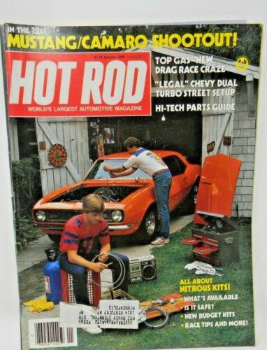 Hot Rod Magazine January 1984 - Mustang/Camaro Shootout!