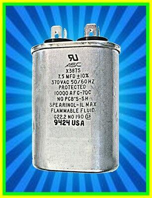 Capacitor   7.5uf/microfarad   370vac/volt   Motor Run   Oval   (Quantity 1) ()