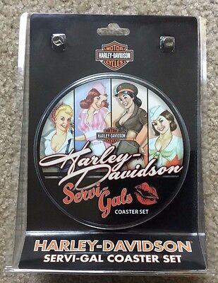Harley Davidson Servi-Gal Coaster Set New In Box for sale  Cedarburg