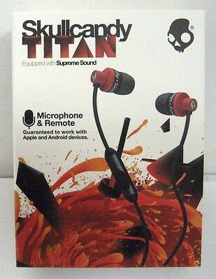 Skullcandy Titan Supreme Sound In Ear Headphones With Mic1  Remote   Travel Bag