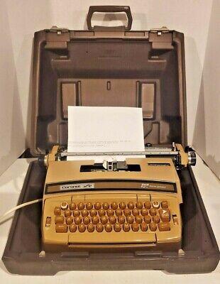 Vintage Smith-corona Typewriter Coronet Super 12 Golden Brown Free Shipping