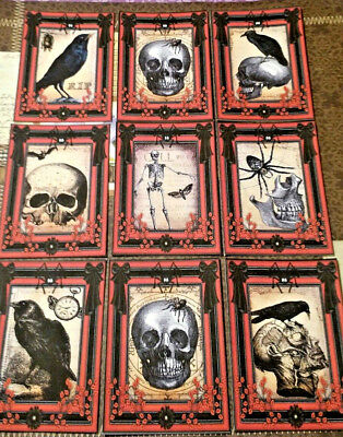 9 Gothic Halloween Creeper~Pocket Cards~No Protector~Scrapbooking~Card Craft