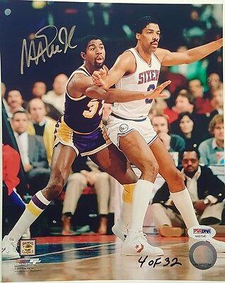 3af106a0d77a Magic Johnson Signed LA Lakers L.E. 8x10 Photo w Dr. J - PSA DNA COA