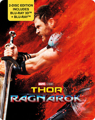 Thor  Ragnarok  Blu Ray 3D   Blu Ray   Steelbook  All   Region Free  New   2017