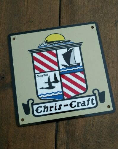 Chris Craft sign sailboat boat