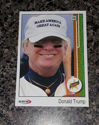 Donald Trump 1989 Style ACEO Baseball Art  Griffey Rookie Card Parody ** Mint **