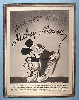 1930s Mickey Mouse Congoleum Rugs Premium Picture Walt Disney Enterprises Scarce