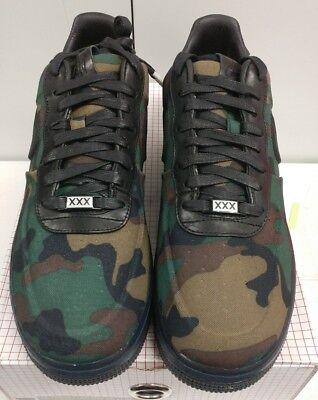DS NIB Nike AIR FORCE 1 LOW MAX AIR VT QS CAMO Sz 10 BLACK