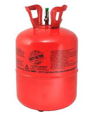 Ballongas 0,4 m³ Helium f. Luftballons Einwegbehälter Gas Heliumflasche Partygas