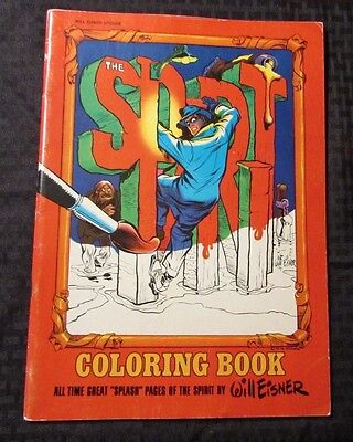 1973 Will Eisner THE SPIRIT Coloring Book FN+ Unused 10x14 Splash - Spirit Coloring Pages