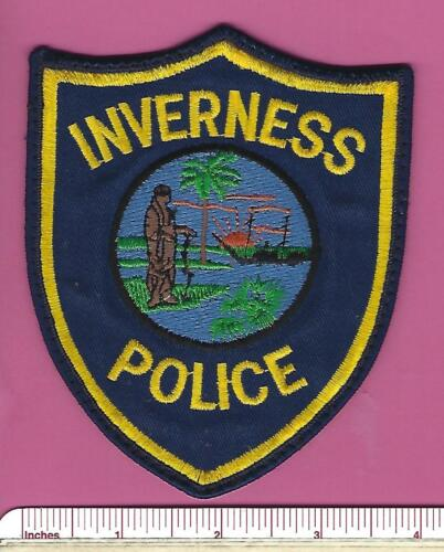Inverness Florida FL State of Fla Defunct Police Shoulder Patch - Citrus County