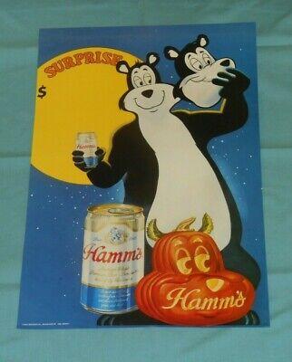 Halloween Retail Stores (original Halloween HAMM'S BEER bear retail store display advertising poster)