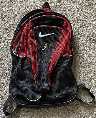 Nike Mesh Black And Red Backpack Used Excellent Condition