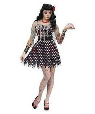 NWT SEXY ROCKABILLY ZOMBIE PIN-UP HALLOWEEN COSTUME - TOTALLY GHOUL - WOMENS - Up Halloween Costumes