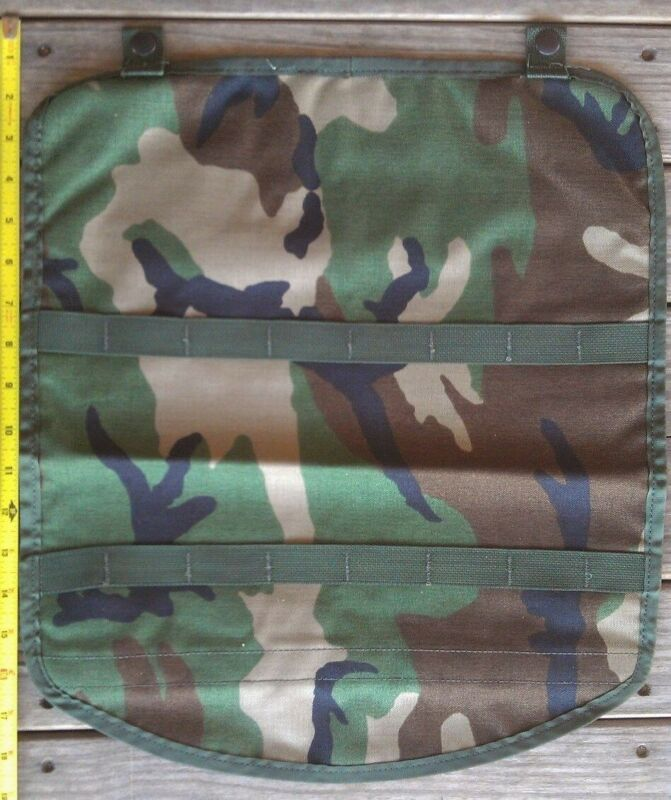 MOLLE II Pouch Lid Flap Large Ruck FIELD Pack US Military Woodland CAMO MAP